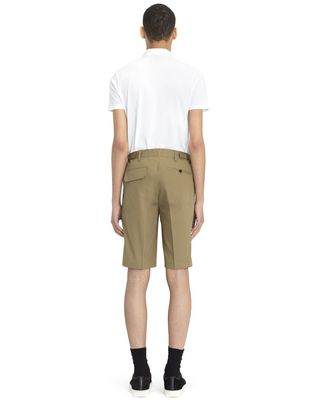 "LANVIN BEIGE CHINO SHORTS WITH EMBROIDERED ""L"" Pants U d"
