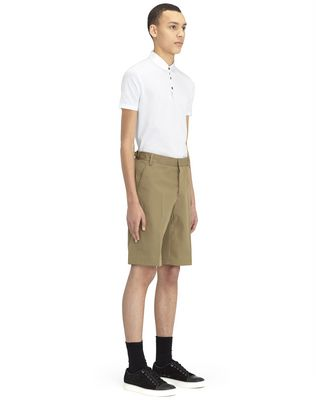 "LANVIN BEIGE CHINO SHORTS WITH EMBROIDERED ""L"" Pants U e"
