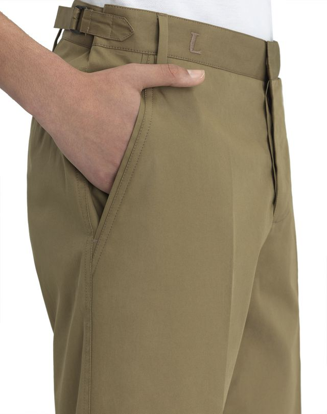 "LANVIN BEIGE CHINO SHORTS WITH EMBROIDERED ""L"" Pants U a"