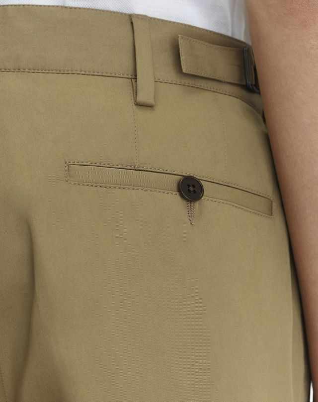 "LANVIN BEIGE CHINO SHORTS WITH EMBROIDERED ""L"" Pants U b"