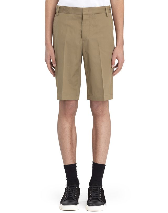 "LANVIN BEIGE CHINO SHORTS WITH EMBROIDERED ""L"" Pants U f"