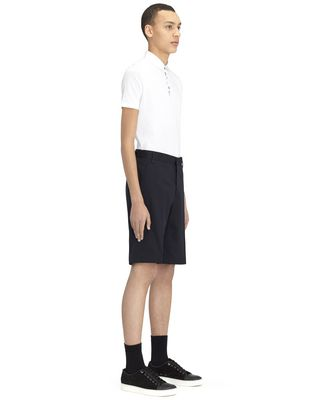 """LANVIN NAVY BLUE CHINO SHORT WITH EMBROIDERED """"L"""" Pants U e"""