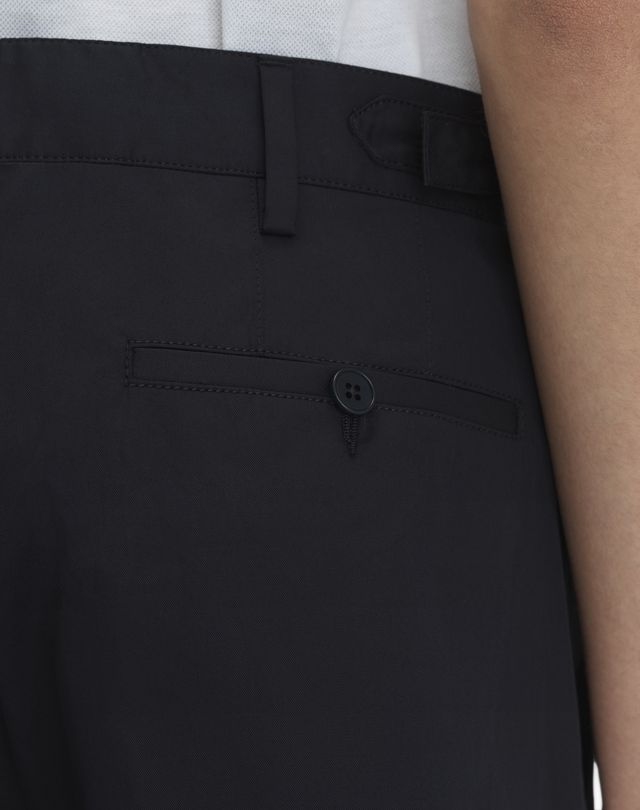 """LANVIN NAVY BLUE CHINO SHORT WITH EMBROIDERED """"L"""" Pants U b"""