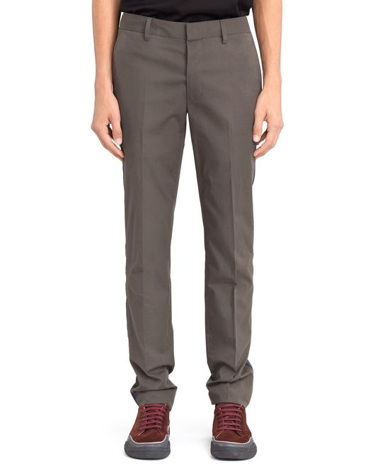 PANTALONI CHINO SLIM IN PIQUET CON BORDATURA - Lanvin