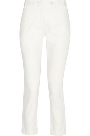 TITLE A Cropped cotton slim-fit pants
