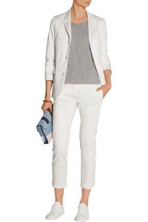 TITLE A Cropped cotton slim-fit pants