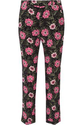 MARNI Floral-print faille pants