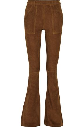 BY FRAME Le Flare de Francoise high-rise suede flared pants