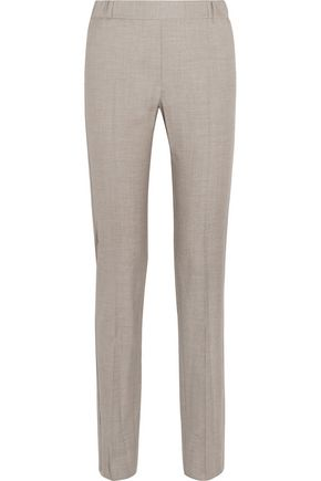 MM6 by MAISON MARGIELA Wool-blend gabardine slim-leg pants