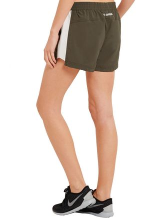 THE UPSIDE Cappella appliquéd shell shorts