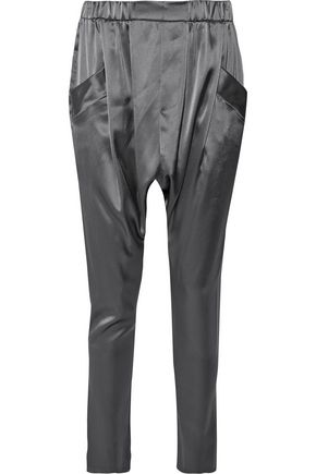 BAJA EAST Satin tapered pants