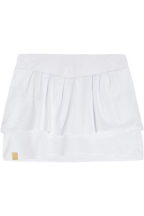 MONREAL LONDON Western perforated stretch-jersey tennis skirt