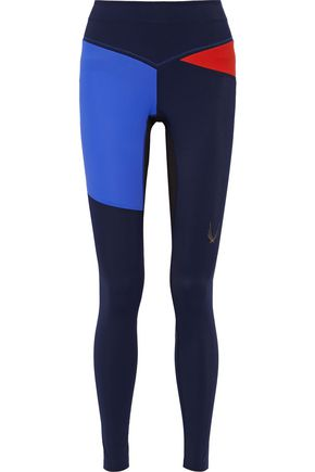 LUCAS HUGH Rio color-block mesh-paneled stretch leggings