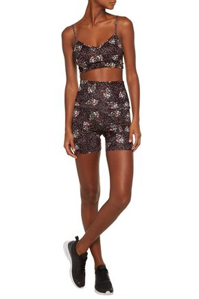 LIVE THE PROCESS Floral-print stretch-Supplex® shorts