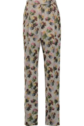 VALENTINO Silk-jacquard tapered pants