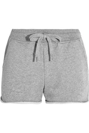 T by ALEXANDER WANG Cotton-jersey shorts