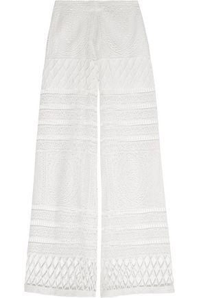 ALEXIS Crocheted wide-leg pants
