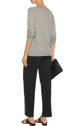 THEORY Gosha ribbed stretch wool-blend wide-leg pants