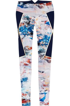 LUCAS HUGH Nordica printed stretch leggings
