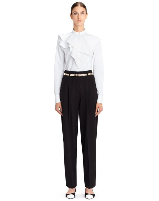 lanvin peg trousers women