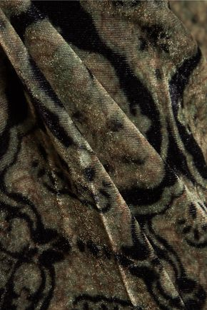 ETRO Printed velvet straight-leg pants