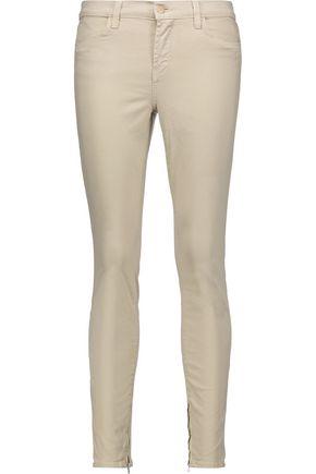 J BRAND Brushed-twill skinny pants