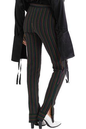 J.W.ANDERSON Striped cotton-crepe slim-leg pants