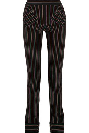 J.W.ANDERSON Striped cotton-crepe slim-leg pants