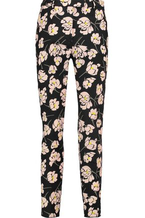 ROCHAS Floral-print cotton slim-leg pants
