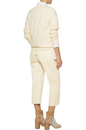 MM6 by MAISON MARGIELA Cropped cotton straight-leg pants