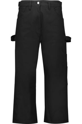 MM6 MAISON MARGIELA Cropped cotton straight-leg pants