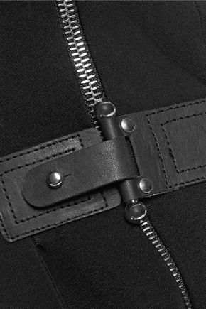ANTONIO BERARDI Asymmetric wrap-effect twill jumpsuit