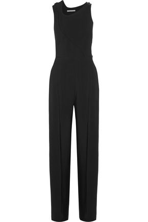 ANTONIO BERARDI Asymmetric wrap-effect twill jumpsuit