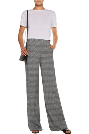 EQUIPMENT Beckett floral-print washed-silk wide-leg pants
