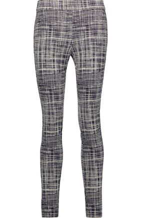 THEORY Adbelle printed stretch-twill leggings