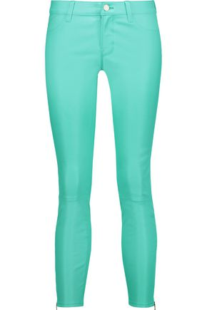 J BRAND L8035 cropped mid-rise stretch-leather pants