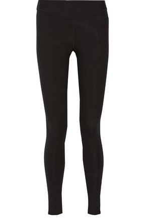 YUMMIE by HEATHER THOMSON Hannah wrap-effect stretch cotton-blend leggings