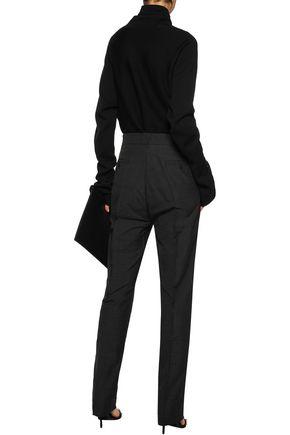 RICK OWENS Textured-crepe straight-leg pants
