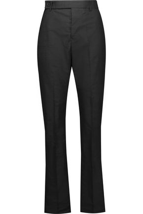RICK OWENS Textured-crepe straight-leg pants