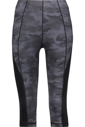 PURITY ACTIVE Cropped two-tone stretch leggings