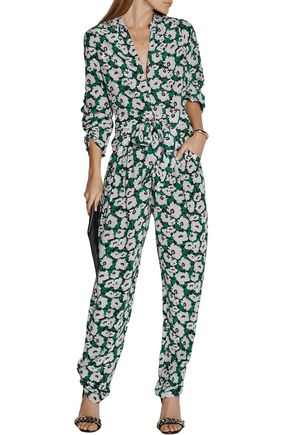 STELLA McCARTNEY Monia floral-print silk-crepe jumpsuit