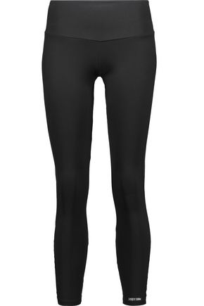 BODYISM I Am Flirty mesh-paneled stretch leggings