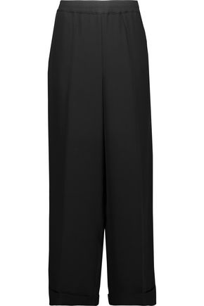 VALENTINO Silk-crepe wide-leg pants
