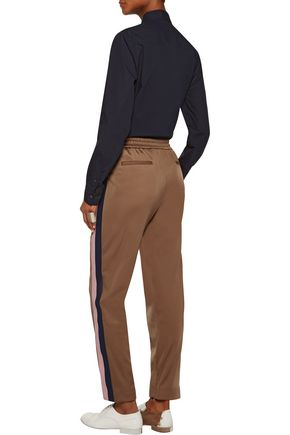 MSGM Striped crepe track pants