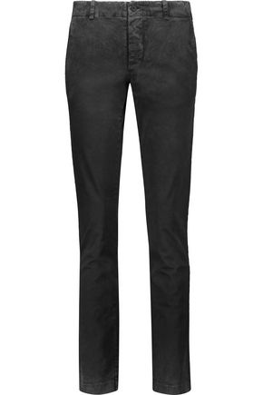 TOMAS MAIER Washed stretch-cotton slim-leg pants