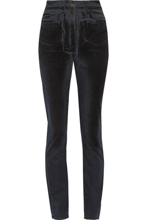 TOMAS MAIER High-rise velvet-coated slim-leg jeans