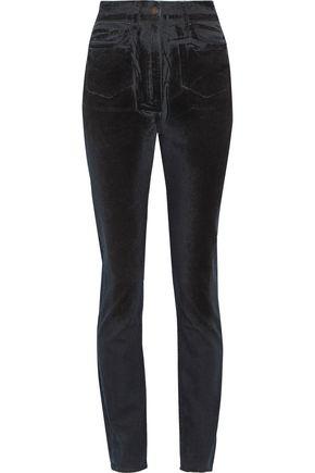 TOMAS MAIER High-rise velvet-coated slim-leg jeans