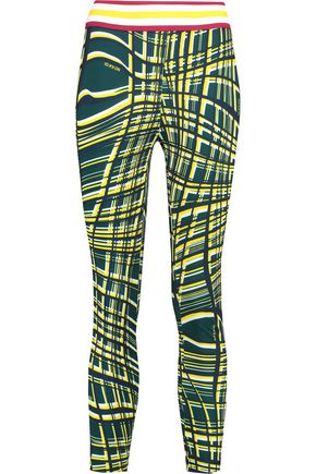 NO KA 'OI Kela printed stretch-jersey leggings