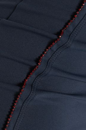 NO KA 'OI Kumu cropped embroidered stretch leggings