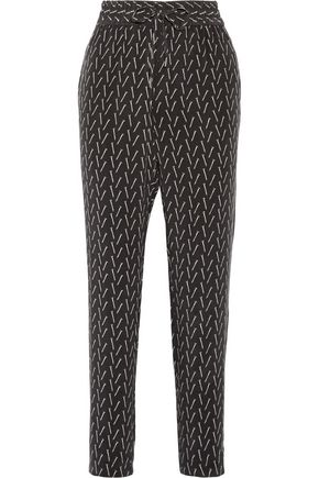 EQUIPMENT Hadley printed washed-silk track pants
